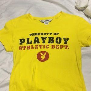 PLAYBOY Tops - playboy t shirt